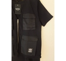 Boohoo Utility Vest T-shirt 2 in 1 Black Size: L