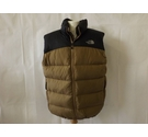 The North Face padded puffer gilet body warmer feather down black tan brown Size: L