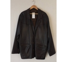 lakeland Leather casual blazer Chocolate Size: XL