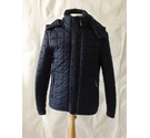 superdry original fuji jacket shiny padded puffer fitted navy blue Size: M