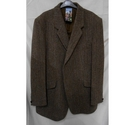 Harris Tweed Coat Brown Size: XXL