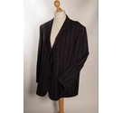 Brook Taverner Striped Blazer Navy/Wine/Green Size: XL
