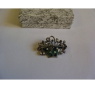 Catherine Popesco France Vintage style brooch enamelled and stone set