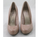 M&S Limited Edition Patent Effect Courts Light Beige Size: 3
