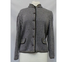 Tricoville Houndstooth Cardigan Black & White Size: 20