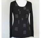 Janique Top with Silver Beads Black Size: M