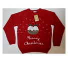Cotton Traders Christmas Jumper Red Size: M