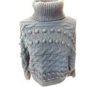 Marks and Spencer chunky polo neck jumper blue Size: S