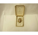 Vintage 1950S Thomas L Mott Renaissance Style Cameo Brooch Limoges in original box