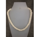 Vintage Faux Pearl Necklace Small Rope Effect Twist NAPIER 16""