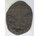 Unbranded Wool Flat Cap Brown & Black Size: Large