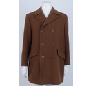 Maculette Double Breasted Woollen Coat Umber Size: L