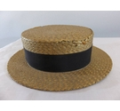 Dunn & Co Vintage Straw Boater Straw Size: Medium
