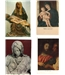 Set of 6 postcards of religious art