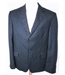 "New & Lingwood [Size: Large 42"" chest, reg fit] Navy With Fine Pinstripe Smart / Stylish Wool Designer Single Breasted Blazer"