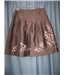 Intuitions - Size: M - Brown - A-line skirt
