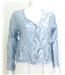 The Touchy- Feely Collection: 1980's Jolie Mine Size: S Shiny Powder Blue Blouse With Crinkle Effect