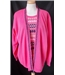"BNWT Envy I - Size: 42"" bust - Pink/multi - layered Cardigan"
