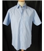 "NWOT M&S - Size: 15"" collar - Blue and white striped - Short sleeved shirt"
