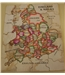 Vintage hand made wood jigsaw of English and Welsh counties