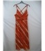 Wallis Size 12 Orange, Dark Brown and Beige Patterned Dress