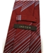 Jaeger Red Striped Pattern Silk and Cotton Blend Tie