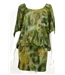 Traffic People Size M Green Peacock Print Dress