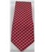 M&S red with blue/cream check pattern tie