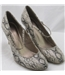 NWOT M&S Collection, size 3.5 beige & black snake skin high heeled pumps