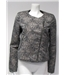 Suncoo Size M Metallic Silver Patterned Top