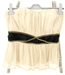 Topshop Size 12 Ivory and Black Art Deco Inspired Party Bustier Top