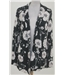 NWOT M&S size: 8 black with white floral top