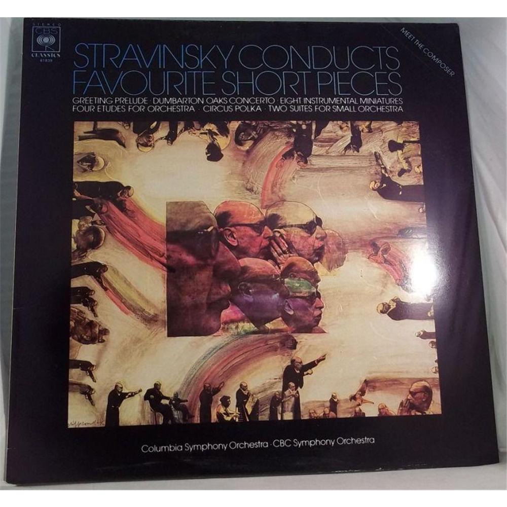Stravinsky Conducts Favourite Short Pieces Lp Cbs 61839 Oxfam