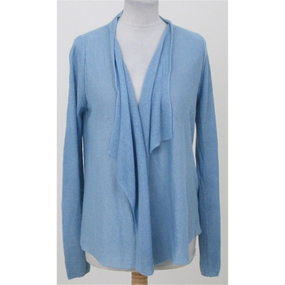 Paul Costelloe size S pale blue linen waterfall cardigan | Oxfam ...