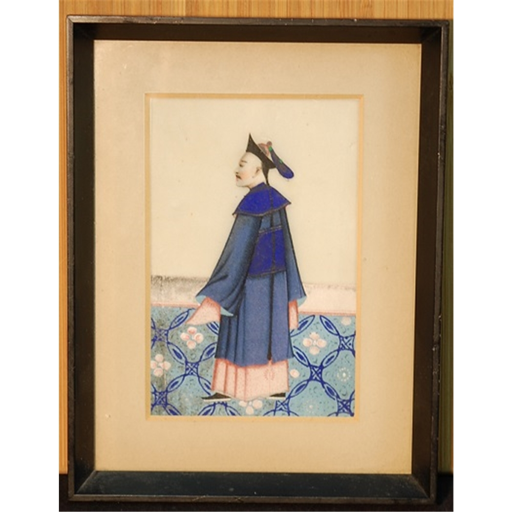 b0f466ba1c6fe Trio of Antique Chinese Pith Paper Paintings Framed | Oxfam GB ...