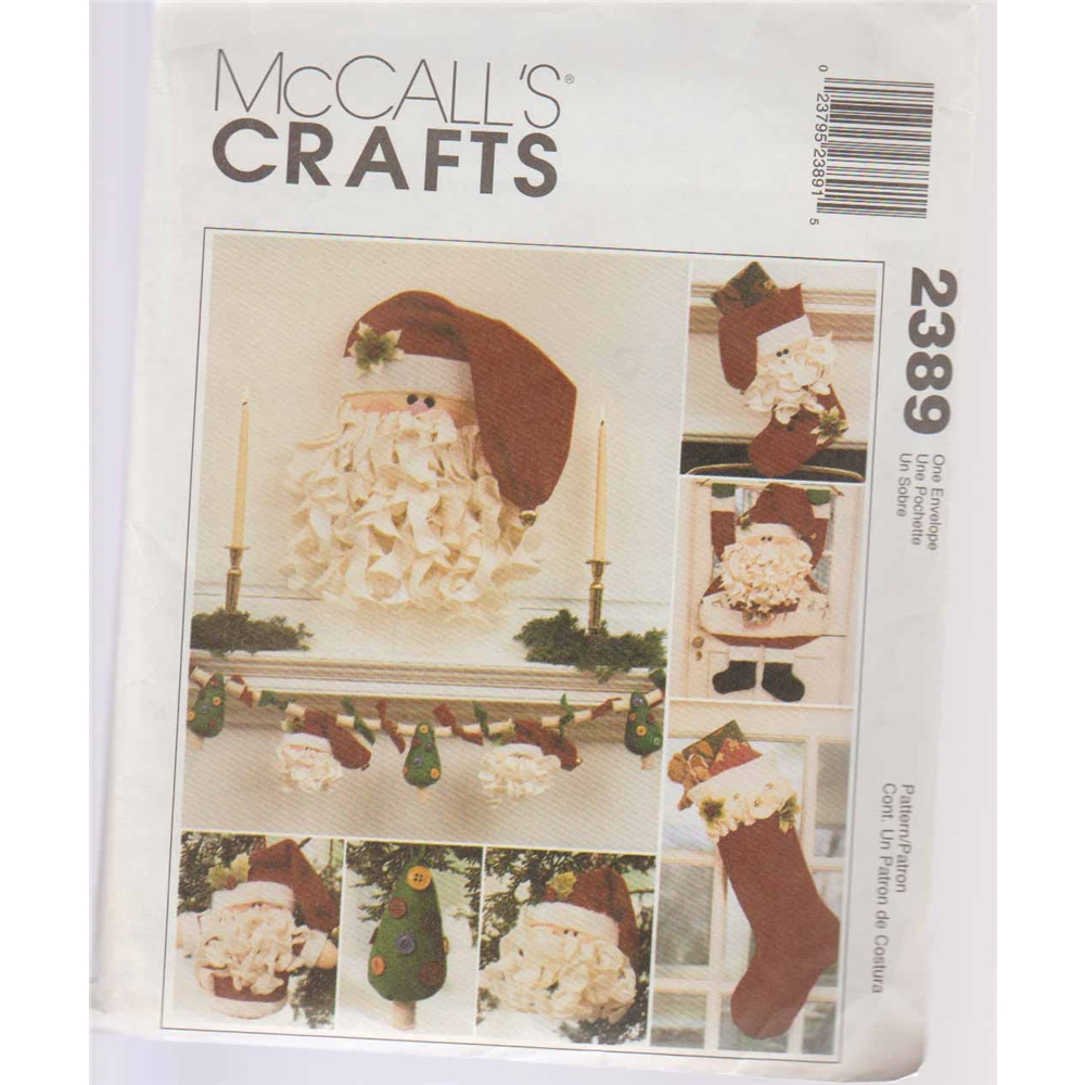 fe9d022b34a Vintage McCall s Craft Pattern 2389