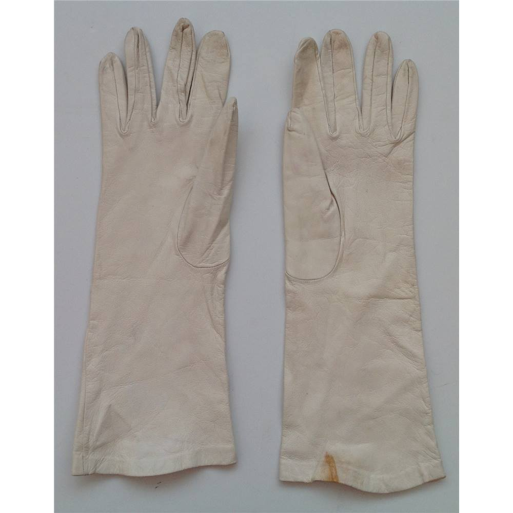 0050e2703 Rollover to zoom. Cream vintage leather gloves. Milore, Selfridges of  London · Alternative product ...