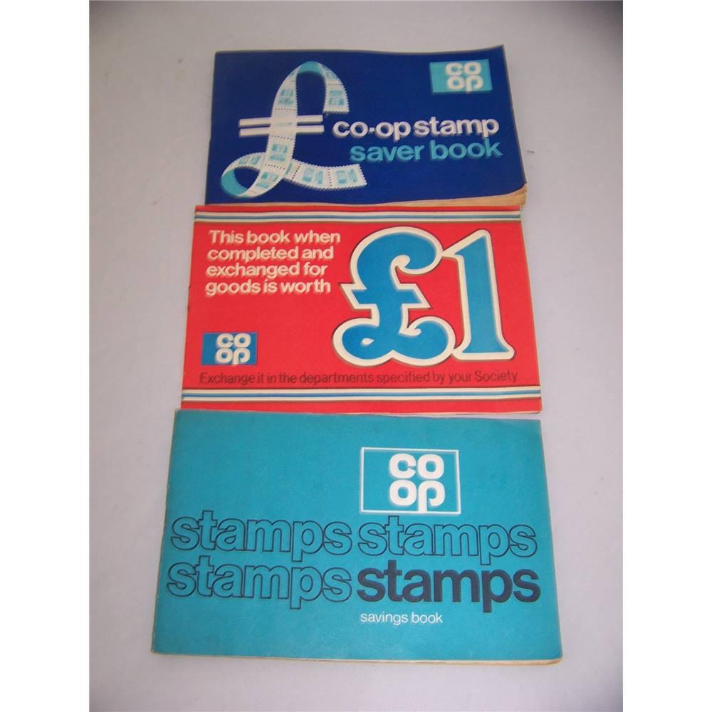 Co Op: 3 Vintage Co-op Stamp Saver Books