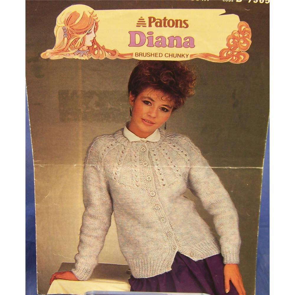 Vintage Patons 7365 Ladies Patterned Yoke Cardigan Knitting Pattern ...