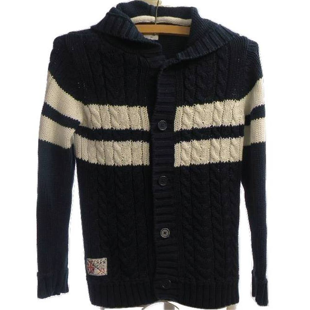 1ab25aa3b5f9 Crew Clothing - Size  8-9 - Navy - Cotton - Boys Hooded Cardigan. For ...