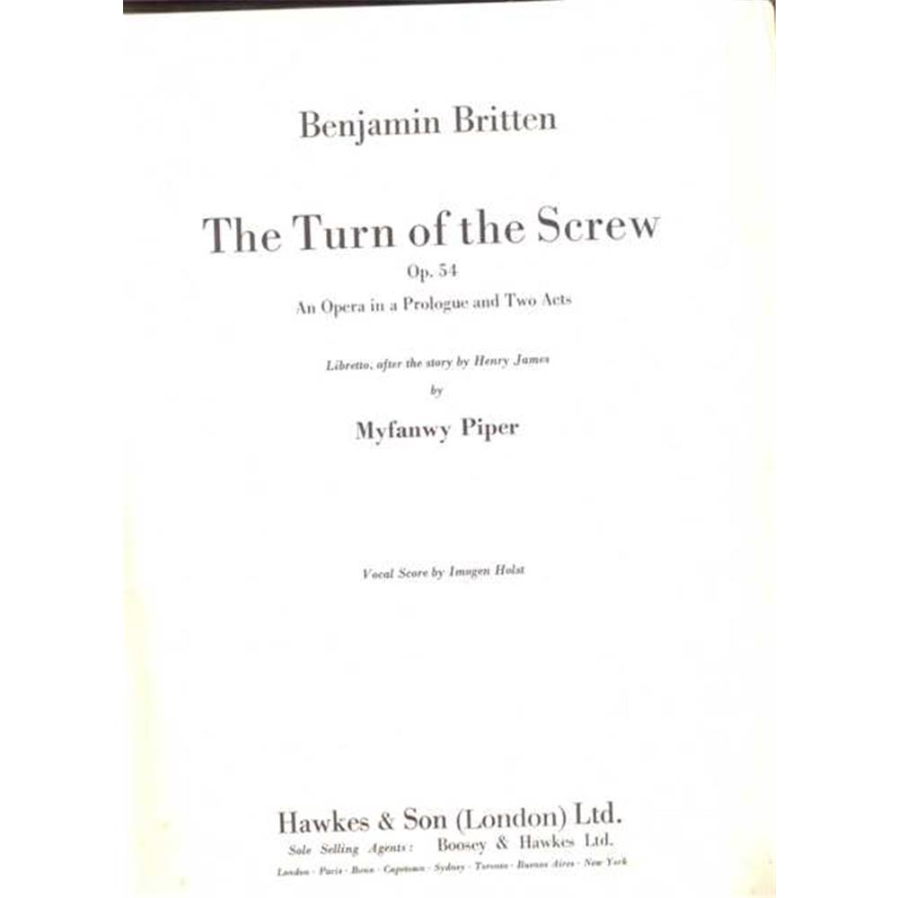 The Turn of the Screw  Vocal Score 1st edition Front cover design by John  Piper | Oxfam GB | Oxfam's Online Shop