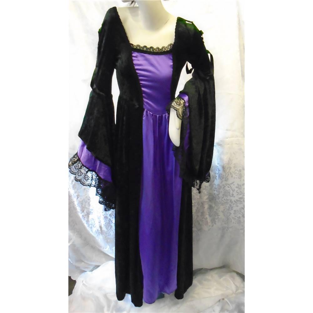 Black & Purple Gothic Dress by The Black Rose Gothic Emporium - Size ...