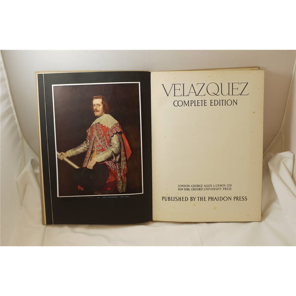 The Paintings and Drawings of Velazquez Complete edition Enrique Lafuente  1943 Phaidon unclipped d/j illus colour and b&w | Oxfam GB | Oxfam's Online