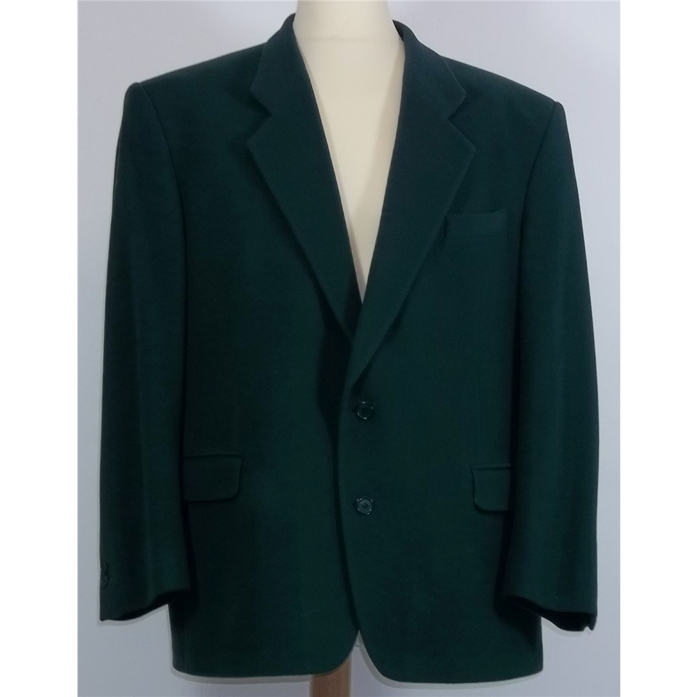cfa4f20df99 Yves Saint Laurent size 56R green wool / cashmere coat | Oxfam GB ...