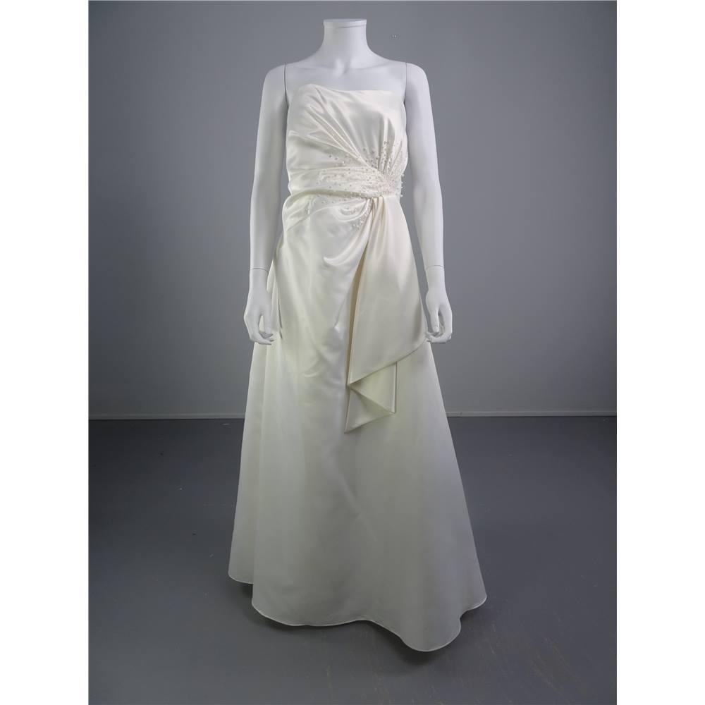 Roman Originals Ivory Size 8 Strapless Wedding Dress With
