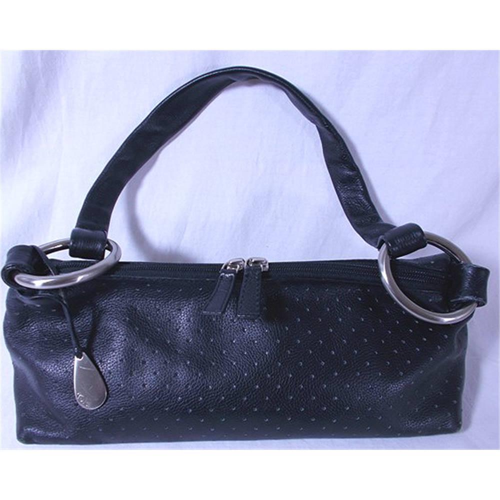 Tula Black Leather Shoulder Bag Loading Zoom