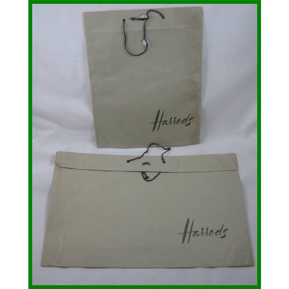 Vintage - Harrods - paper carrier bags  23cc3478e8d