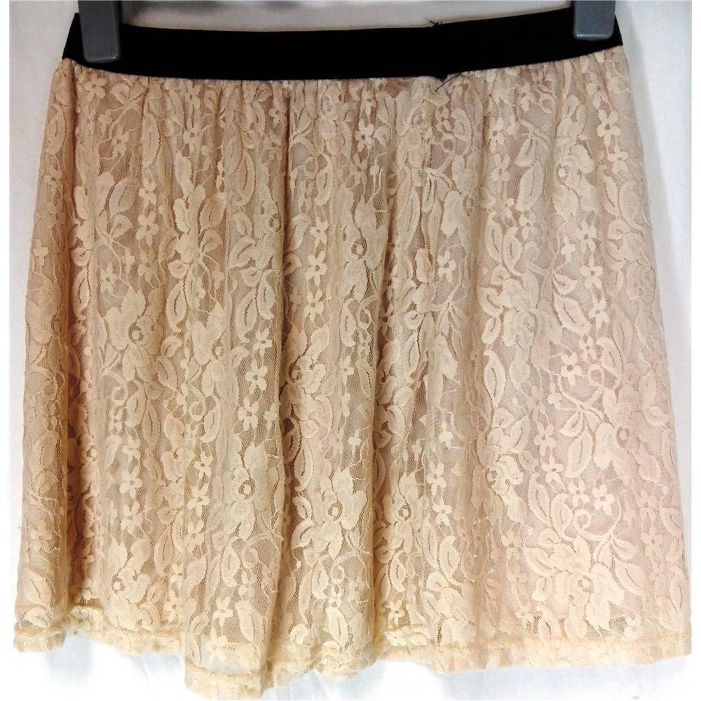 primark atmosphere size 14 beige rose mini skirt oxfam gb oxfam s online shop. Black Bedroom Furniture Sets. Home Design Ideas