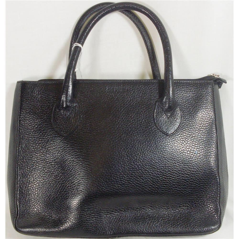 Osprey By Graeme Ellison Medium Black Leather Handbag Loading Zoom