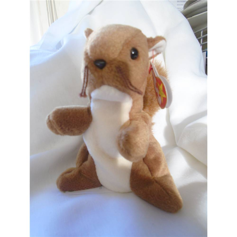 593ad0f9708 Original Beanie Babies Nuts Ty the Squirrel